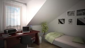 Sypialnia mała mieszkanie 12